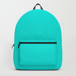 Bright Turquoise - solid color Backpack