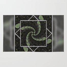 Spiralling Water Lilies Rug
