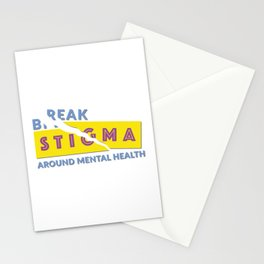 Break stigma around mental health Stationery Cards