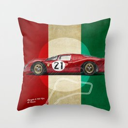 Monza Racetrack Vintage Throw Pillow