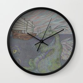 Dreaming Dragon Wall Clock