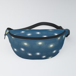 Christmas Light Blue Fanny Pack