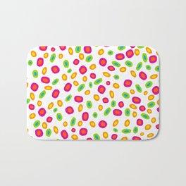 Colorful Circles Abstract Print Bath Mat