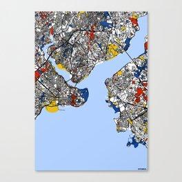 Istanbul mondrian Canvas Print