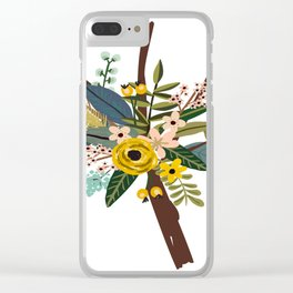 Bold Wildflower Bouquet Clear iPhone Case