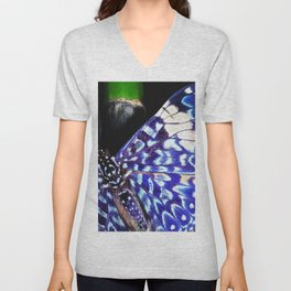 Butterfly Close-Up on Bamboo in Costa Rica Unisex V-Neck