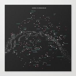 Norra Stjärnhimlen Canvas Print