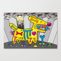 Dog vs Aliens Canvas Print