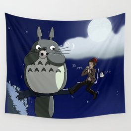 Totoro and the Doctor's Midnight Musicale Wall Tapestry