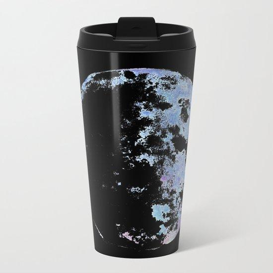 blue moon 02 Metal Travel Mug