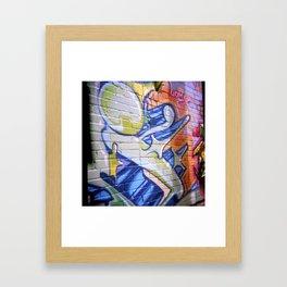 SHOEI'd Stig and her Star Framed Art Print