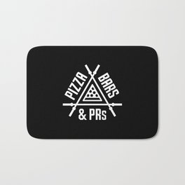 Pizza, Bars and PRs Bath Mat