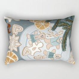 Gingerbread Men Cookies Rectangular Pillow