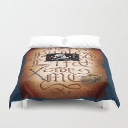 It's A Pirates Life For Me Duvet Cover