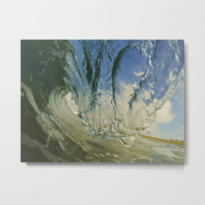 Shorebreak Barrel  6/20/14 Metal Print