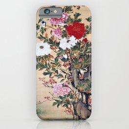 Ito Jakuchu - Peony - Digital Remastered Edition iPhone Case