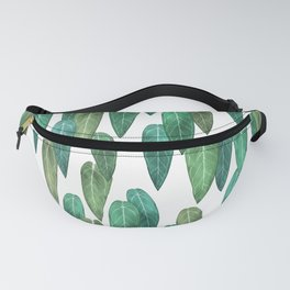 Queen Anthurium leaves Fanny Pack