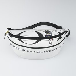 The Greater Your Storm The Brighter Your Rainbow Fanny Pack