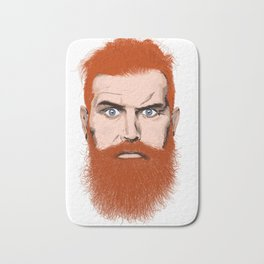 Ginger beard man Bath Mat