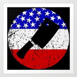 American Flag Butcher Art Print