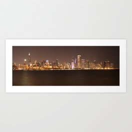 Night in Chicago Art Print