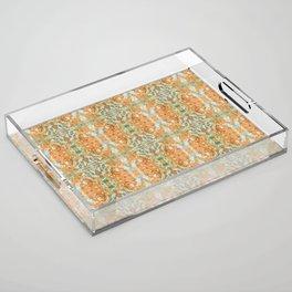 Humming Bird Orange Acrylic Tray
