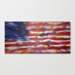 American Flag Original Painting By Zee Clark Canvas Print