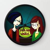 daria Wall Clocks featuring Daria by Paz Huichaman