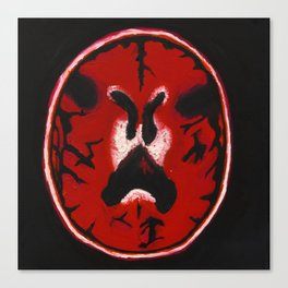 Red Brain Scan Canvas Print