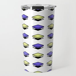 Float Pieces Blue and Yellow Travel Mug