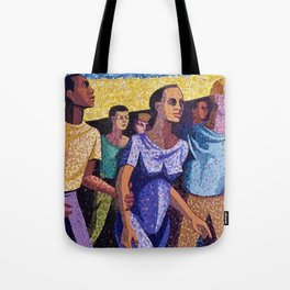Classical African American Landscape 'Man Emerging' by Charles Alston Tote Bag
