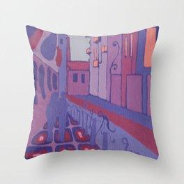 VALENCIA (CALLE BOLSERIA) Throw Pillow