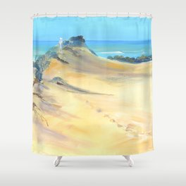 Sand between the toes Shower Curtain
