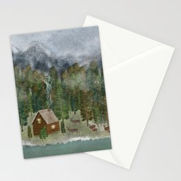happy in the wilderness Stationery Cards
