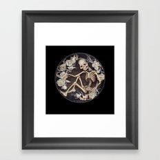 In Memoriam Skeleton  Framed Art Print