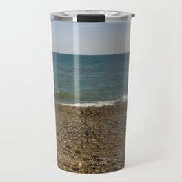 Evening Tide on a cobbled beach Travel Mug