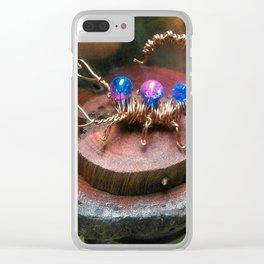 Copper Wire Scorpion Sculpture Clear iPhone Case