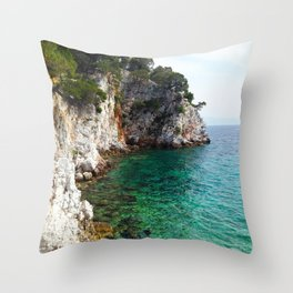 Skopelos Sea Throw Pillow
