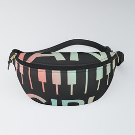 Colorful Piano Girl Pianist Keyboard Player Music Fanny Pack