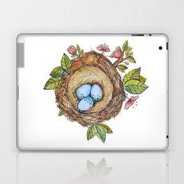 Bird nest Spring watercolor Laptop & iPad Skin