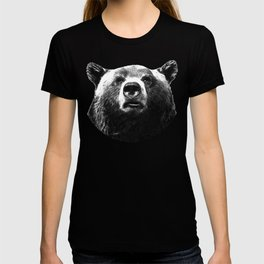 Black and white bear portrait T-shirt