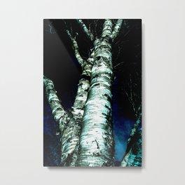 LIVING BLUE Metal Print