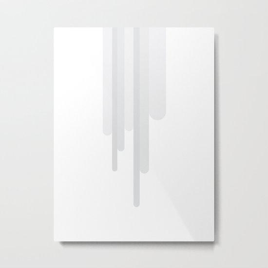 White Trickle Metal Print