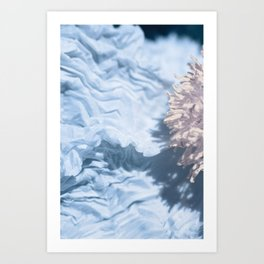 Blue Texture I Art Print