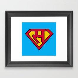 sa se superman in hindi  Framed Art Print