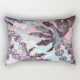 Tropical Adventure in Pink Rectangular Pillow
