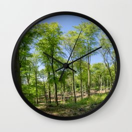 Summer Forest Wall Clock