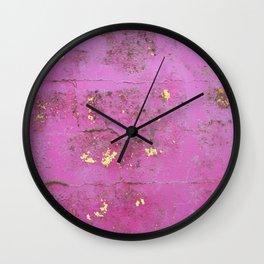 Purple Wall Wall Clock