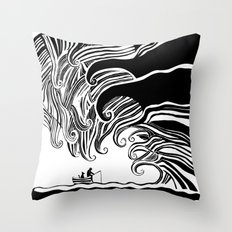 Dark Wave Throw Pillow