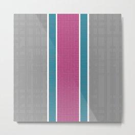 Colored Stripes Metal Print